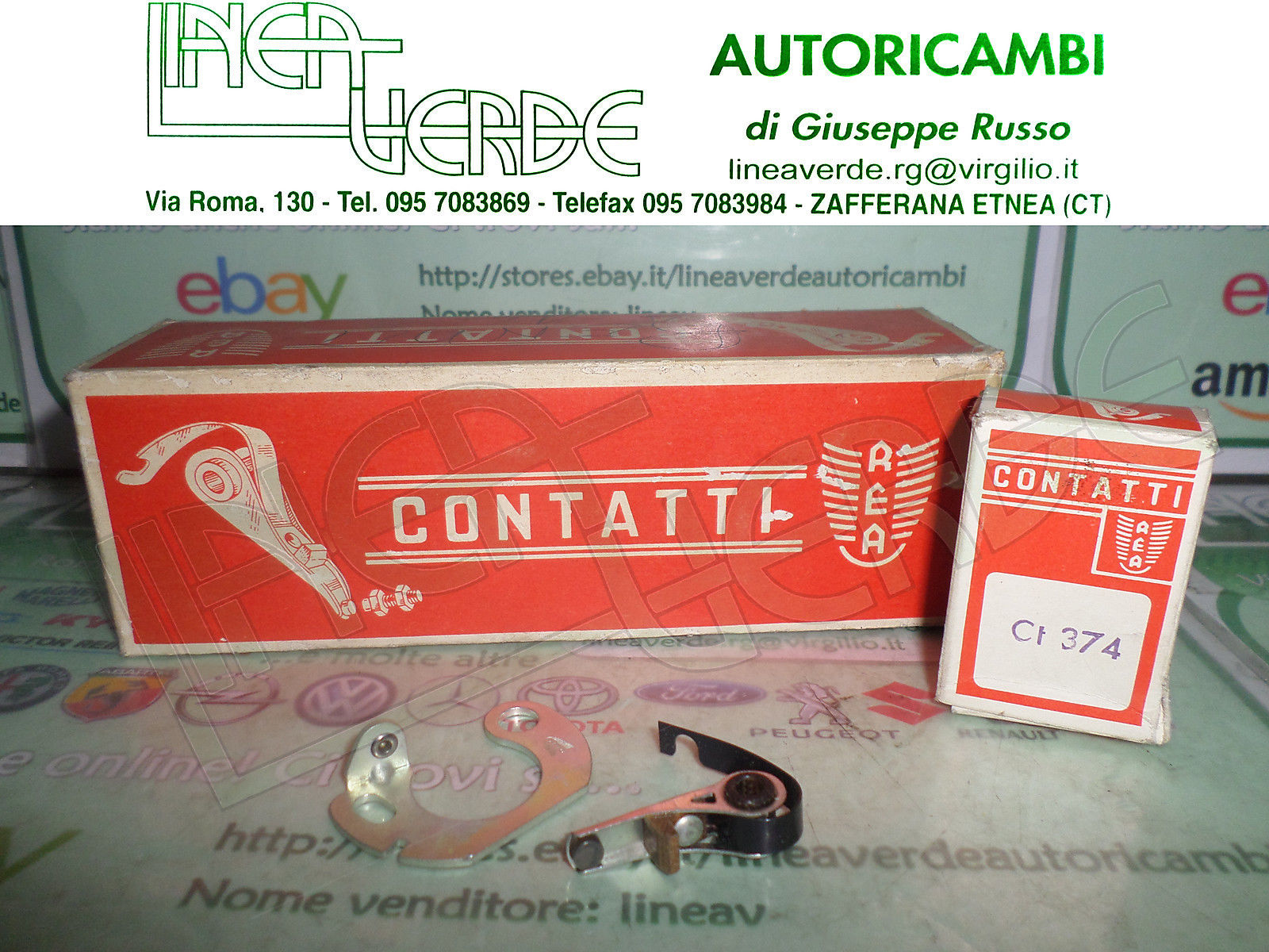 SET CONTACTS DISTRIBUTOR IGNITION AEA CT 374 IMPLANT DUCELLIER RENAULT 4