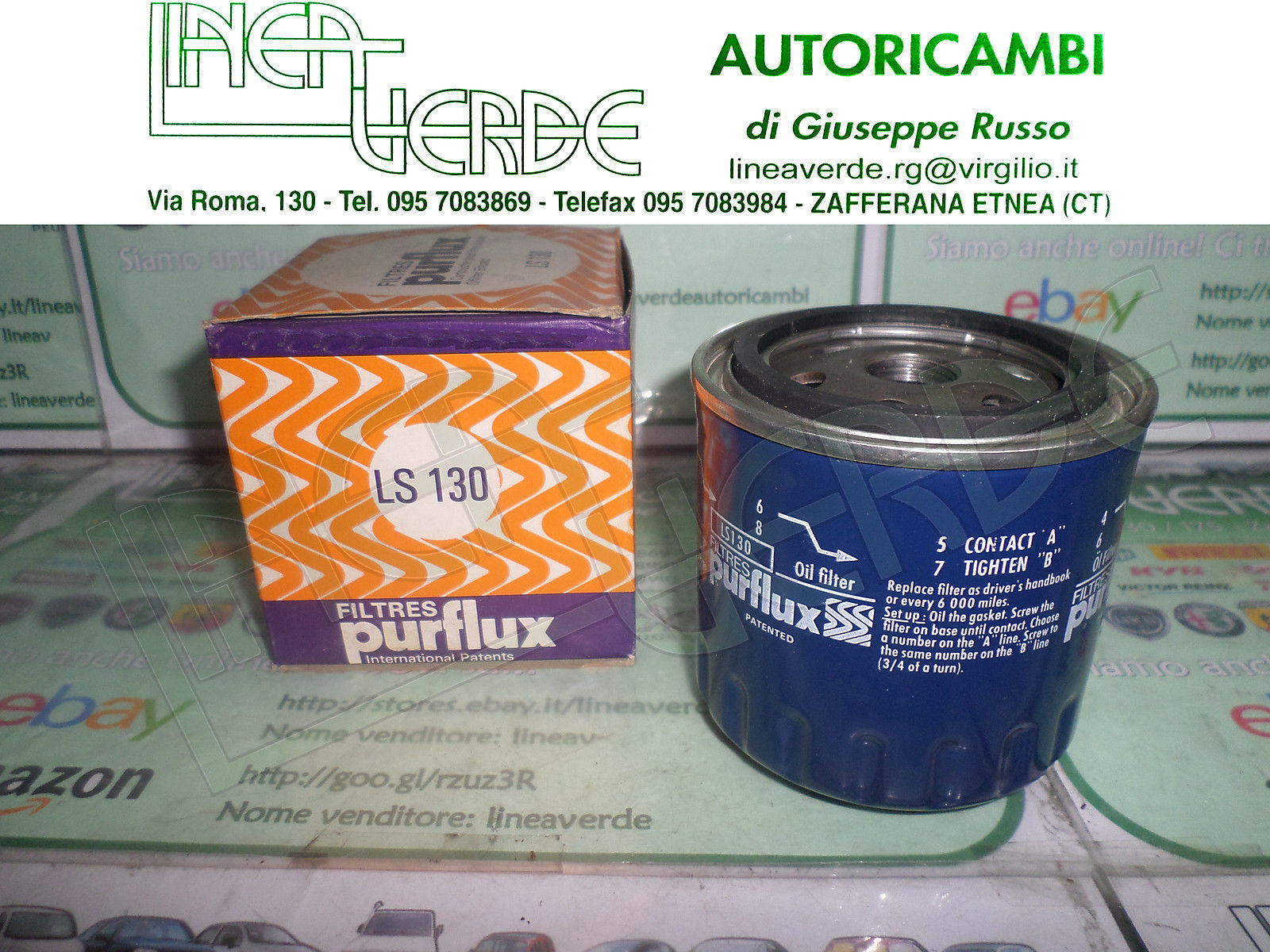 OIL FILTER PURFLUX LS130 LOTUS ECLAT -ESPRIT -EXCEL FOR R907E6000W