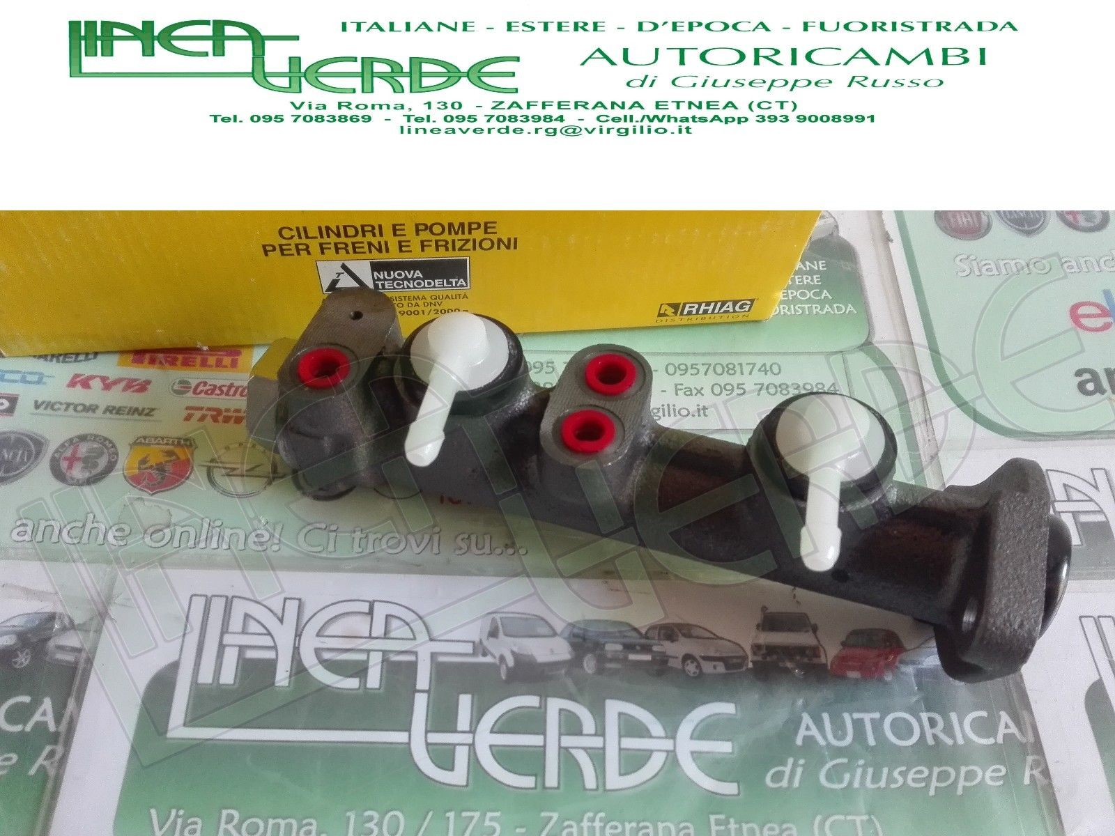 PUMP BRAKES CYLINDER MAESTRO NUOVA TECNODELTA A112 FOR 4372984 - 4231877