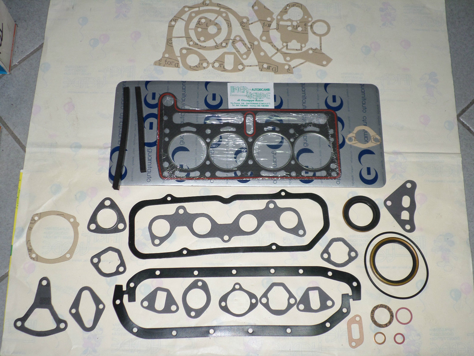 FIAT 600 D 600 D MULTIPLA 600 T SERIES ENGINE GASKETS FULL