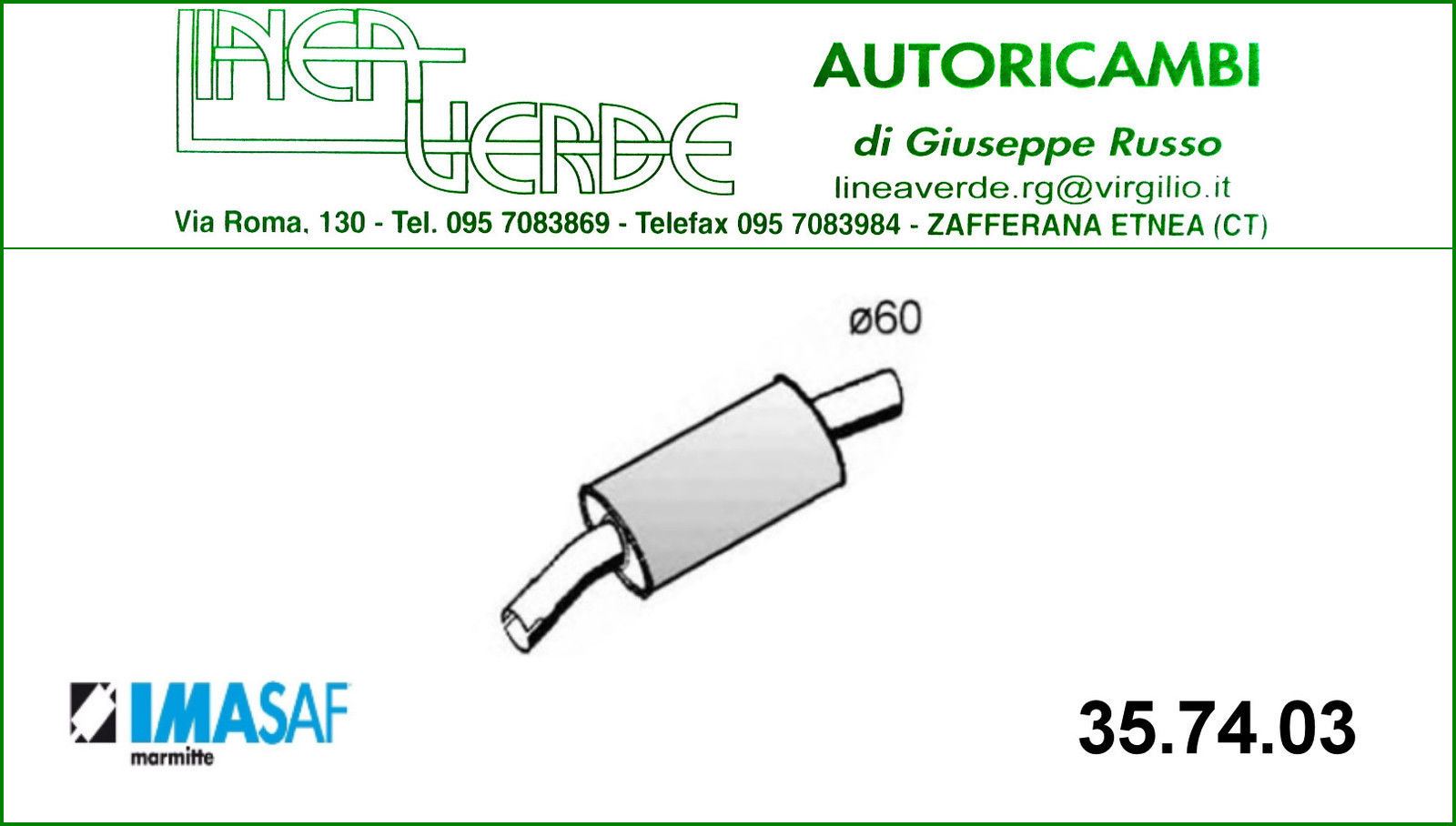 SILENCER FRONT IMASAF FOR 7579129 - 1717HS FIAT DUCATO - CITROËN C25